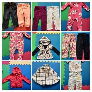 18-24 month girl fall clothes lot